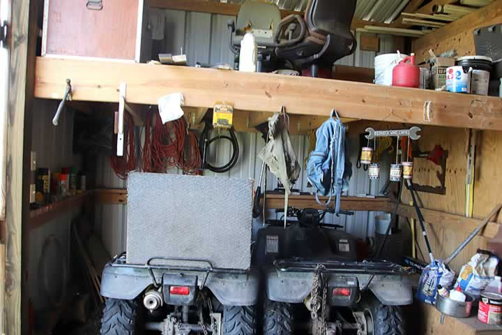 Cabin, ATV and Tool Room