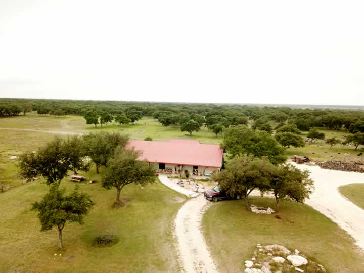 Aerial View of House Area