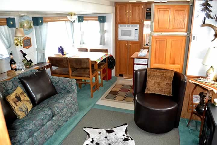 Inside Travel Trailer