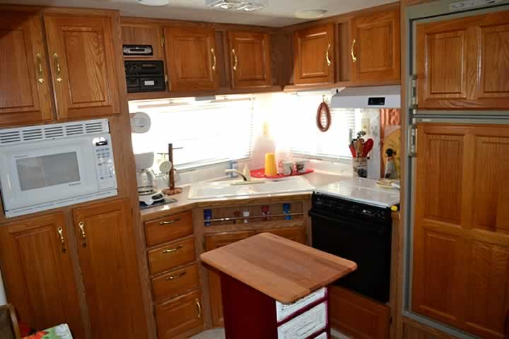 Travel Trailer Kitchen