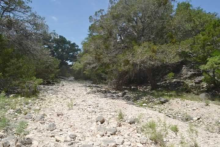 Dry Seasonal Creek Bed