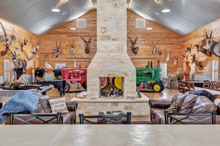 Party Barn Fireplace